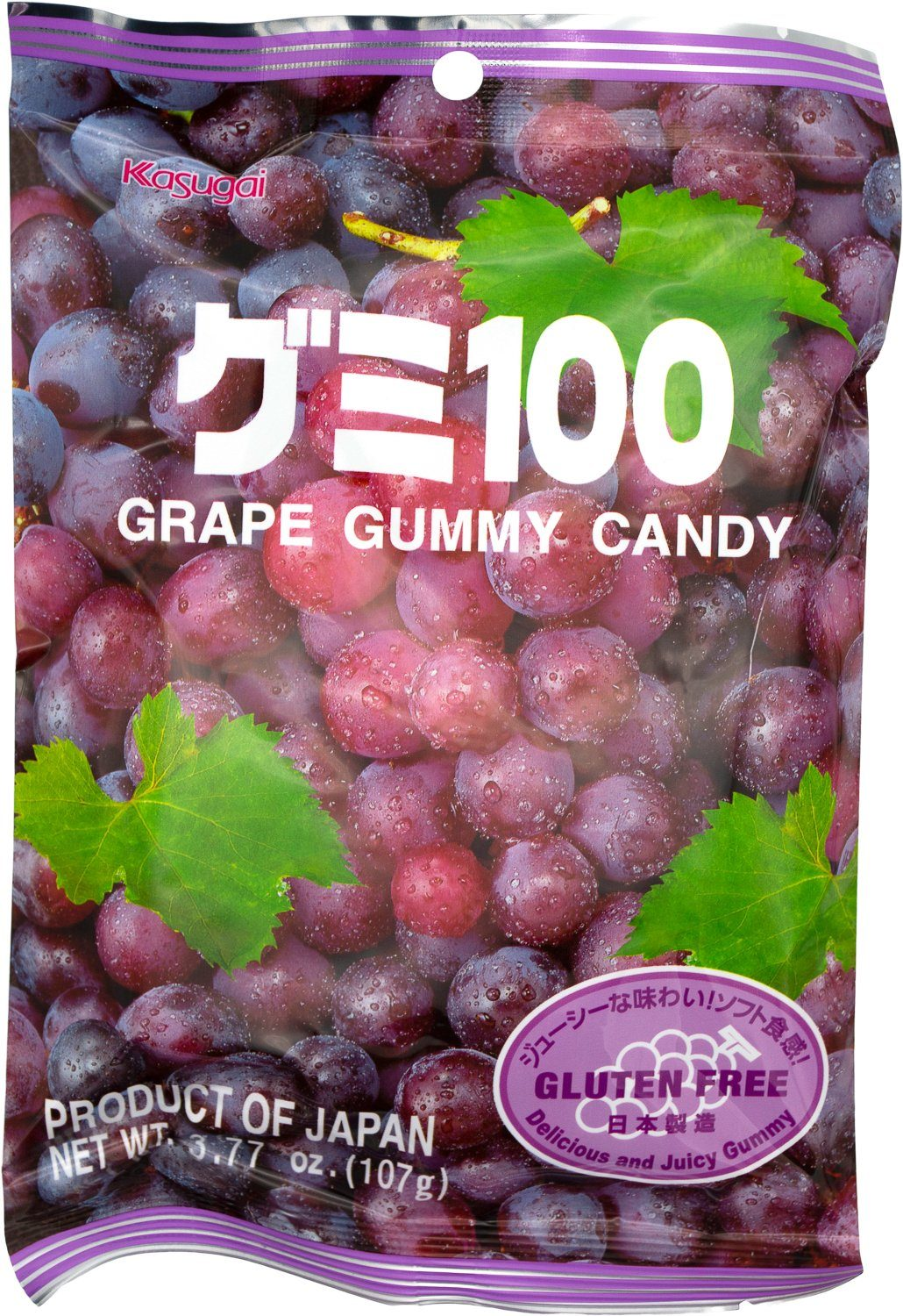 Kasugai Gummy Candy Kasugai Grape 3.77 Ounce