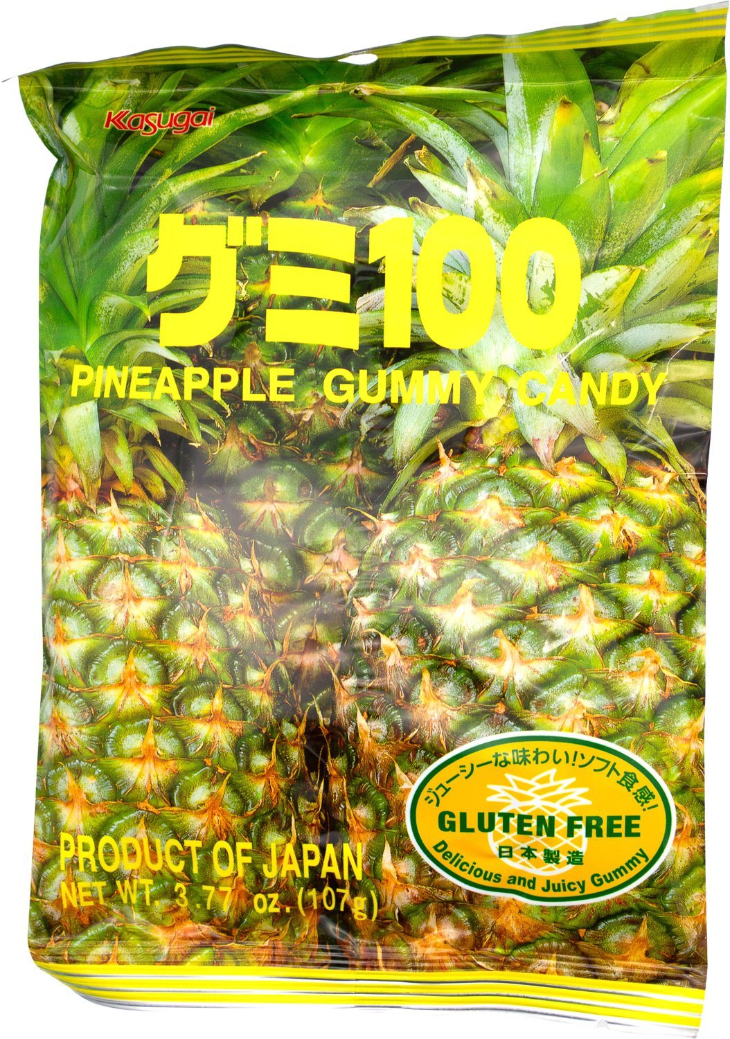 Kasugai Gummy Candy Kasugai Pineapple 3.77 Ounce