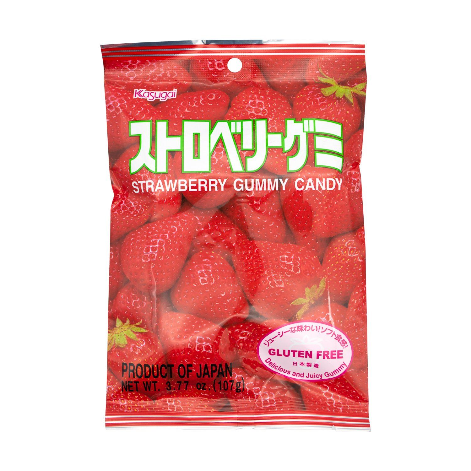 Kasugai Gummy Candy Kasugai Strawberry 3.77 Ounce