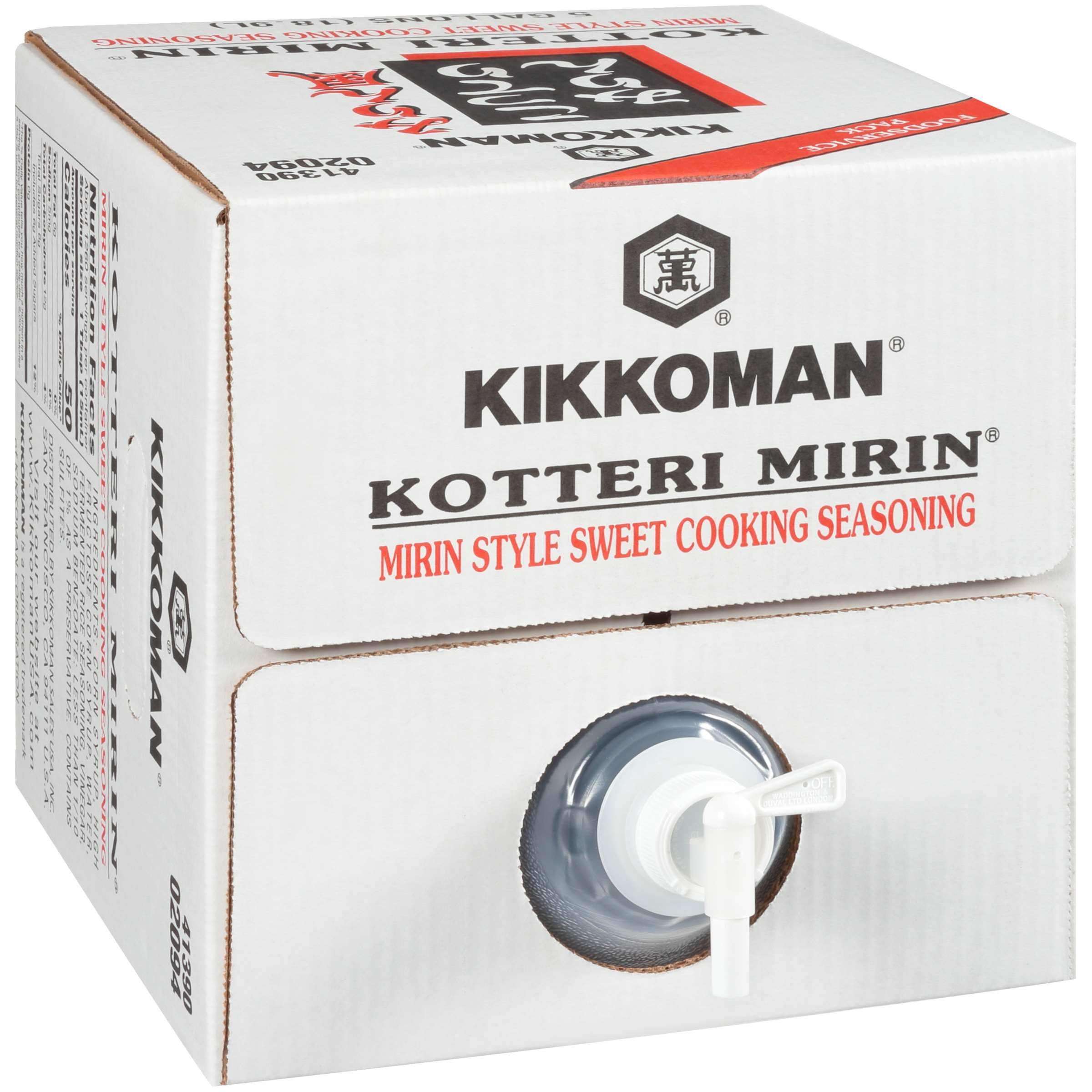 Kikkoman Sweet Cooking Rice Seasoning Kikkoman Kotteri Mirin 5 Gallon