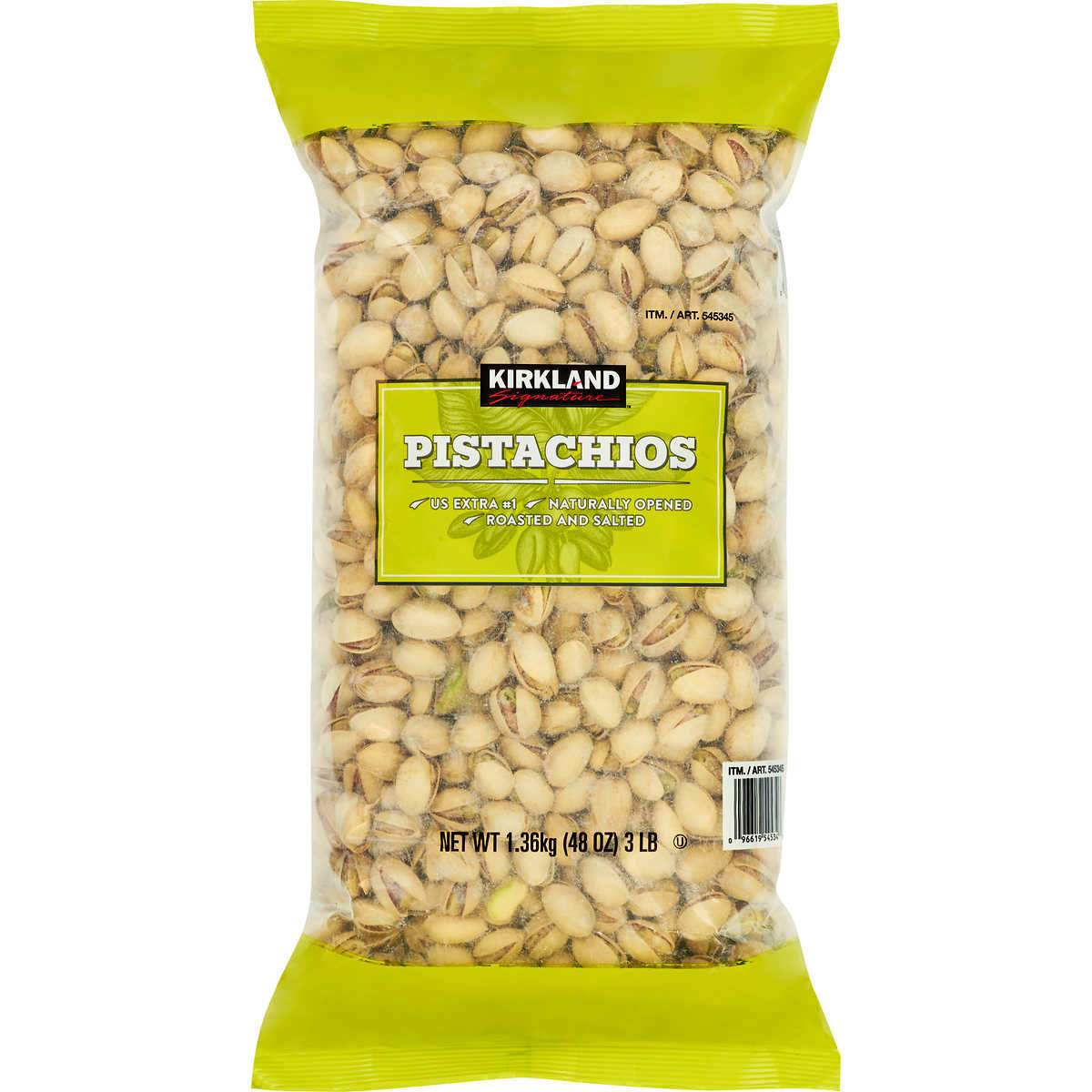 Kirkland Signature California In-Shell Pistachios, Roasted & Salted, 3 Pound Kirkland Signature