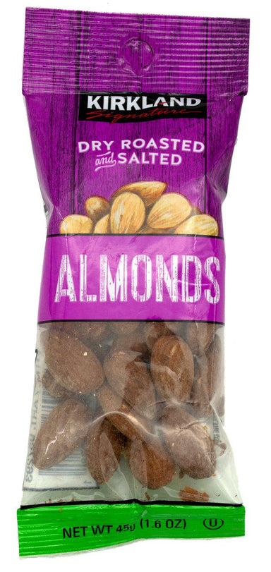 Kirkland Signature Dry Roasted and Salted Almonds, 1.6 Ounce Kirkland Signature