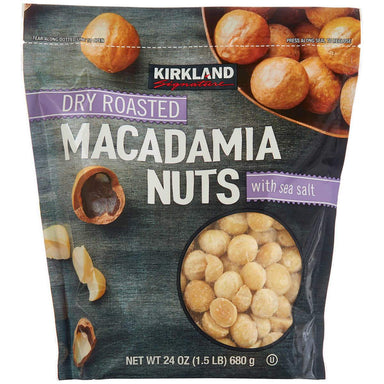 Kirkland Signature Dry Roasted Macadamia Nuts, 24 Ounce Kirkland Signature