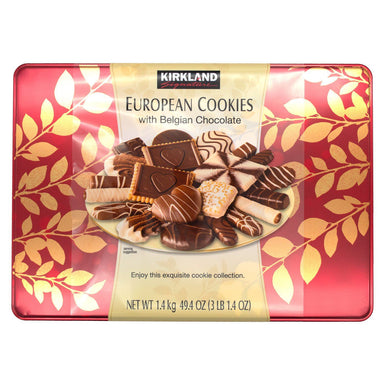 Kirkland Signature European Cookies Meltable Kirkland Signature 15 Varieties Assortment (with Belgian Chocolate) 49.4 Ounce