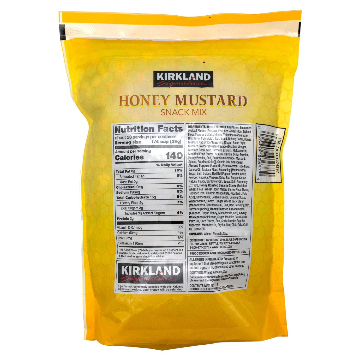 Kirkland Signature Honey Mustard Snack Mix Kirkland Signature