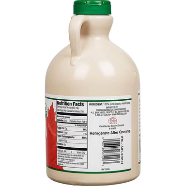 Kirkland Signature Organic Pure Maple Syrup, 33.8 Fluid Ounce Kirkland Signature