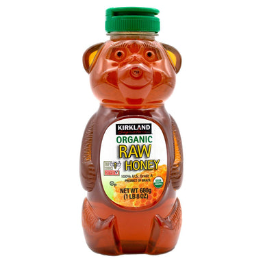 Kirkland Signature Organic Raw Honey Bear, 24 Ounce Kirkland Signature