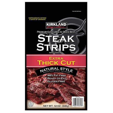 Kirkland Signature Premium Extra Thick Steak Strips, 12 Ounce Kirkland Signature