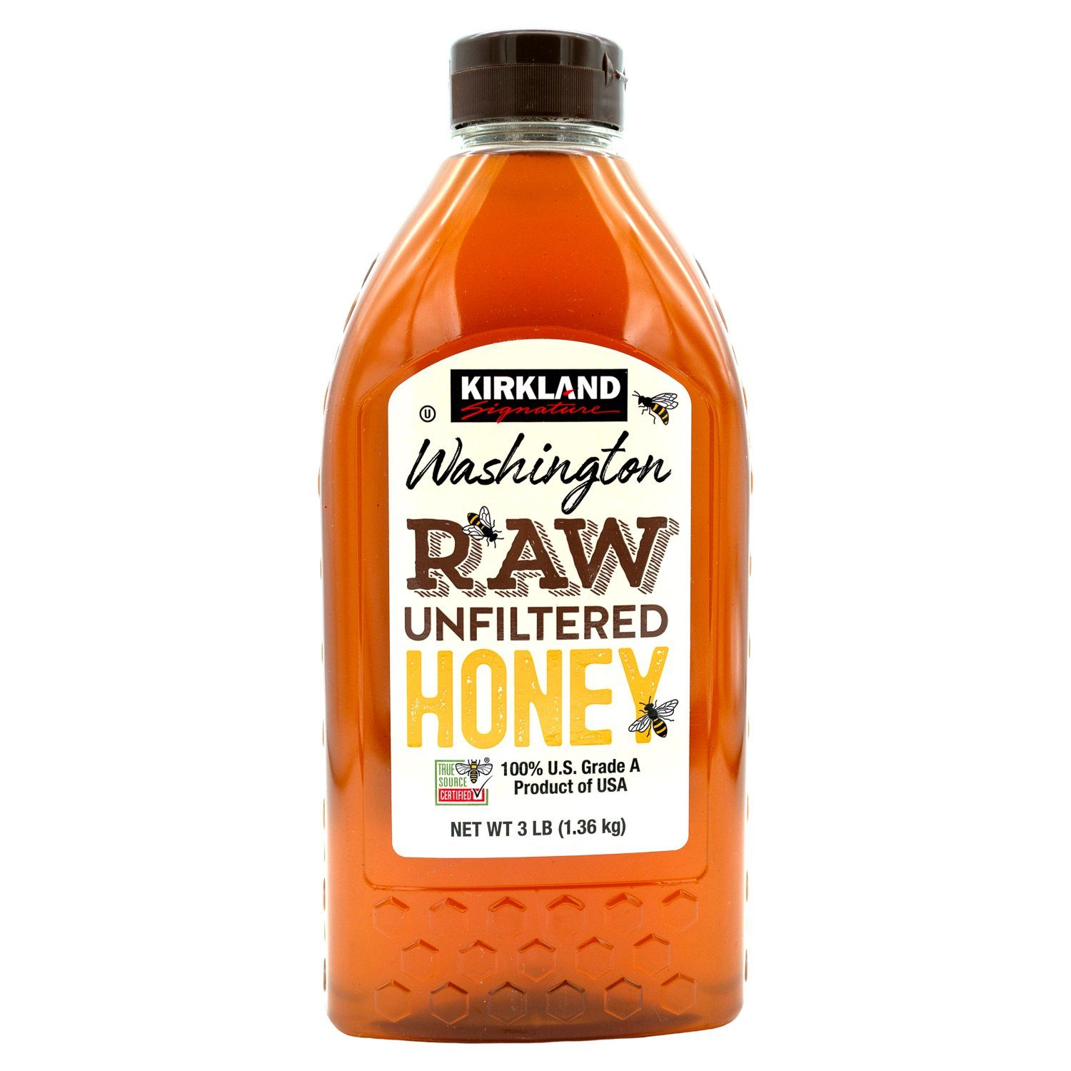 Kirkland Signature Raw Unfiltered Honey Kirkland Signature Washington 3 Pound