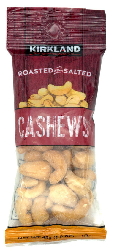 Kirkland Signature Roasted & Salted Cashews, 1.6 Ounce Kirkland Signature