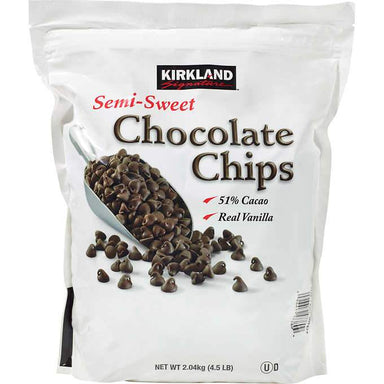Kirkland Signature Semi-Sweet Chocolate Chips, 4.5 Pound Kirkland Signature