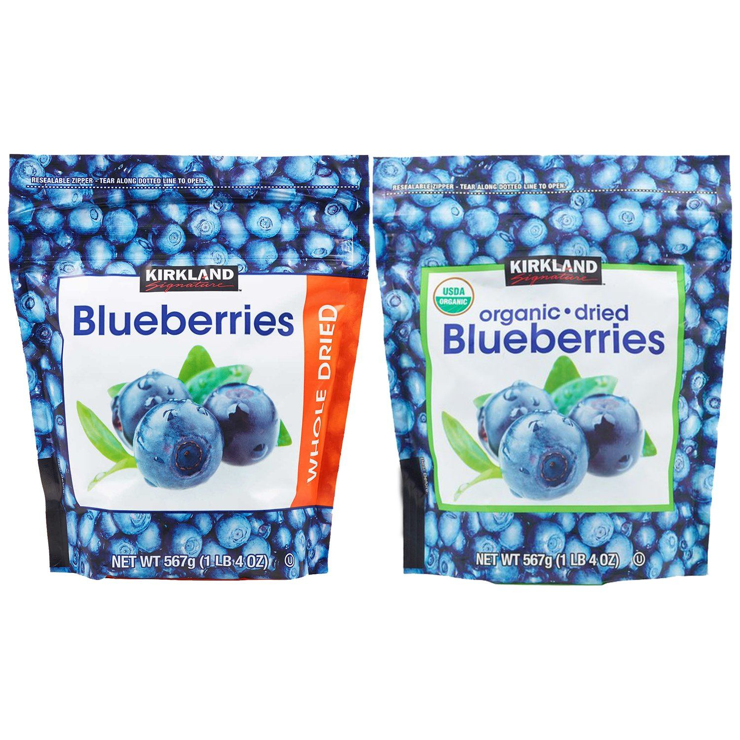 Kirkland Signature Whole Dried Blueberries Kirkland Signature