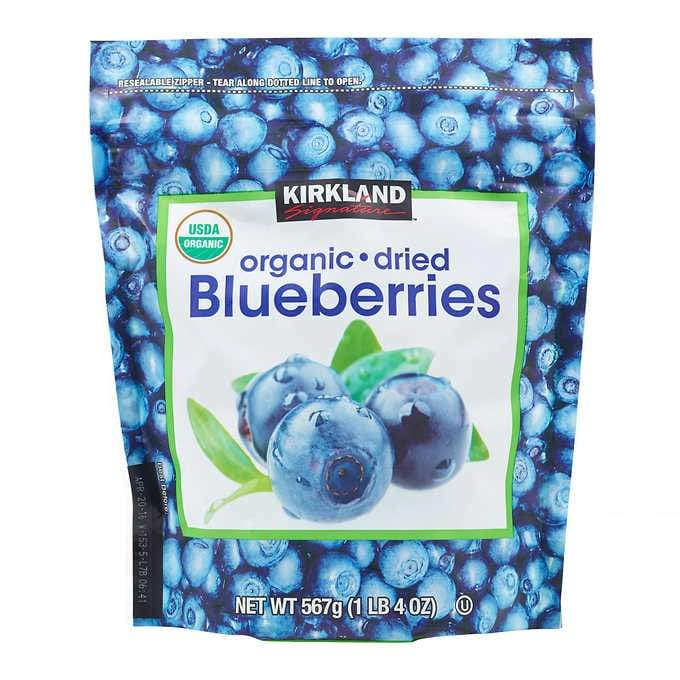 Kirkland Signature Whole Dried Blueberries Kirkland Signature Organic 20 Ounce