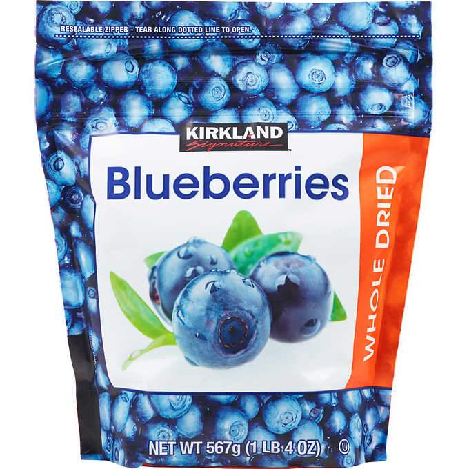Kirkland Signature Whole Dried Blueberries Kirkland Signature Regular 20 Ounce