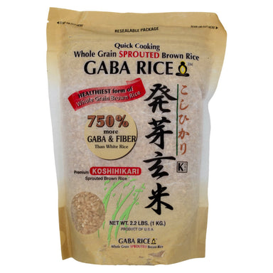 Koshihikari Whole Grain Sprouted Brown Gaba Rice Sun Valley Rice 2.2 Pound