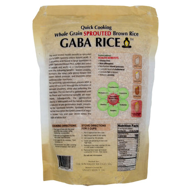 Koshihikari Whole Grain Sprouted Brown Gaba Rice Sun Valley Rice