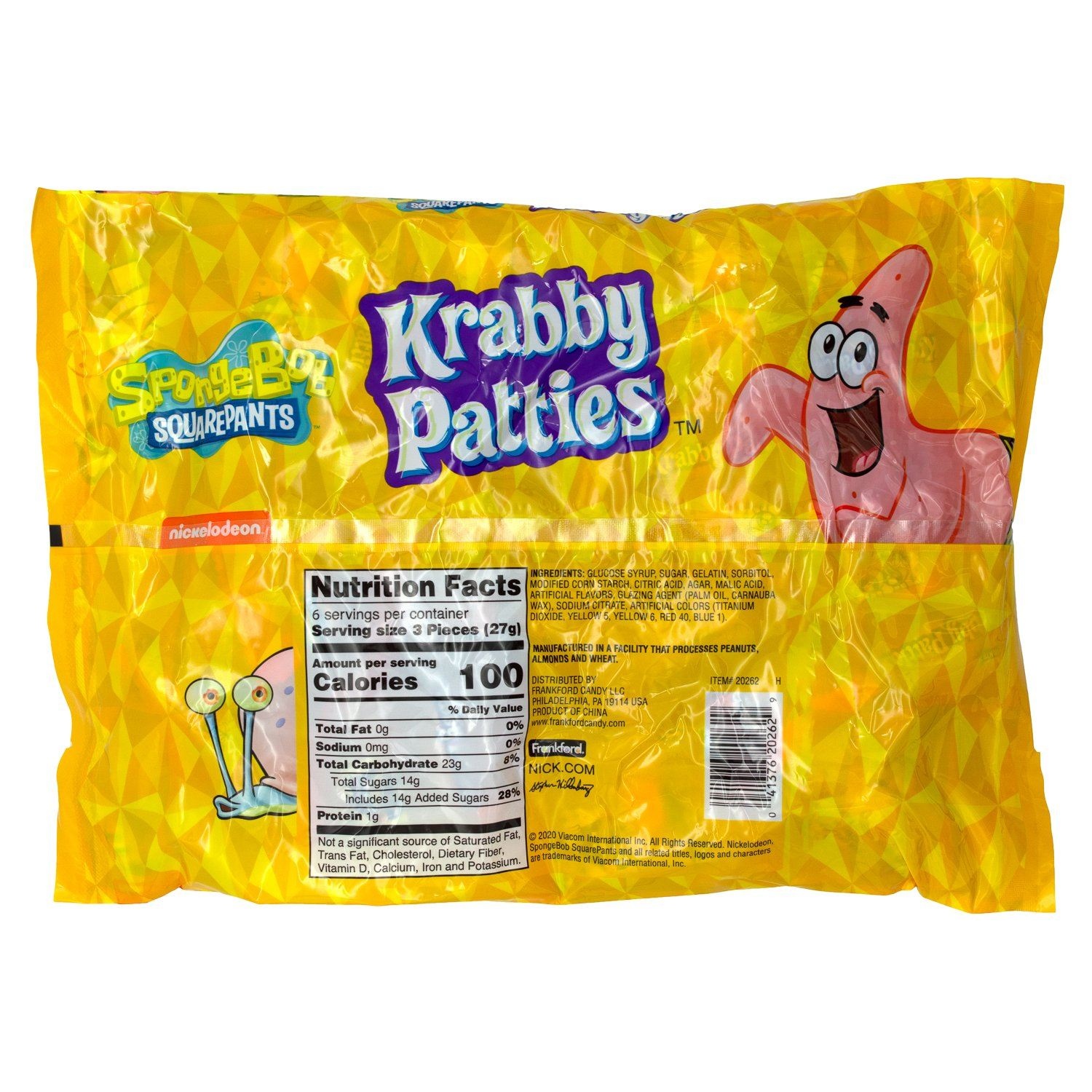 Krabby Patties Gummy Candy Frankford Candy