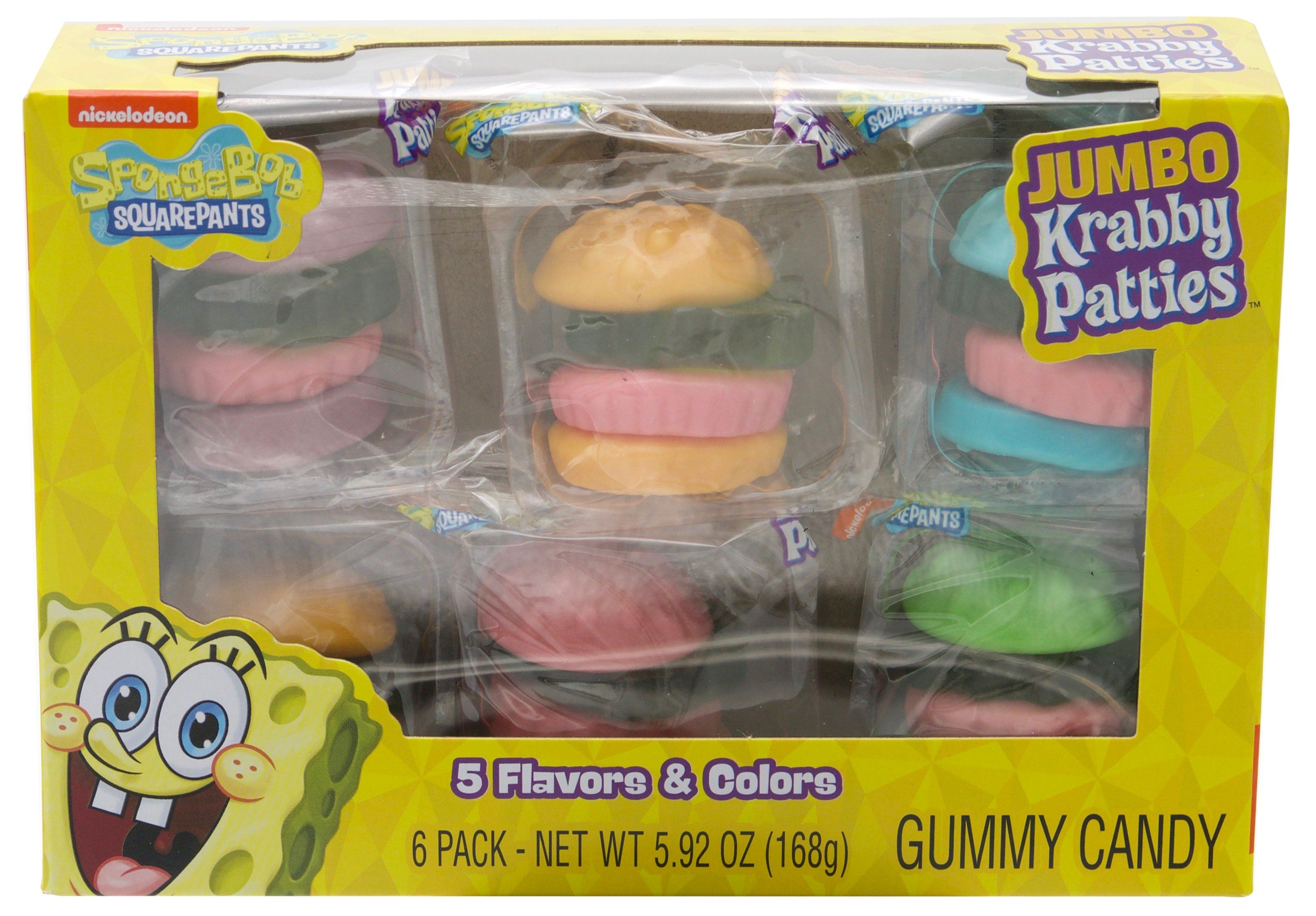 Krabby Patties Gummy Candy Frankford Candy Jumbo 5.92 Ounce