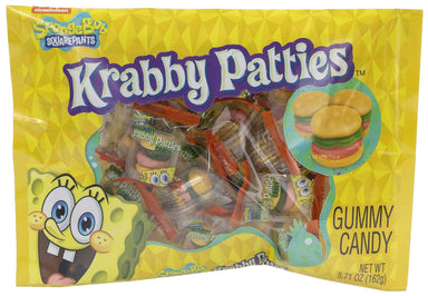 Krabby Patties Gummy Candy Frankford Candy Original 5.7 Ounce