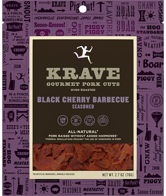 KRAVE Meat Cuts KRAVE Black Cherry Barbecue Pork Cuts 2.7 Ounce