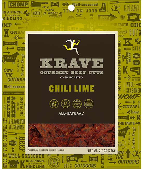 KRAVE Meat Cuts KRAVE Chili Lime Beef Cuts 2.7 Ounce
