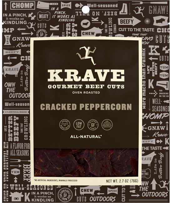 KRAVE Meat Cuts KRAVE Cracked Peppercorn Beef Cuts 2.7 Ounce
