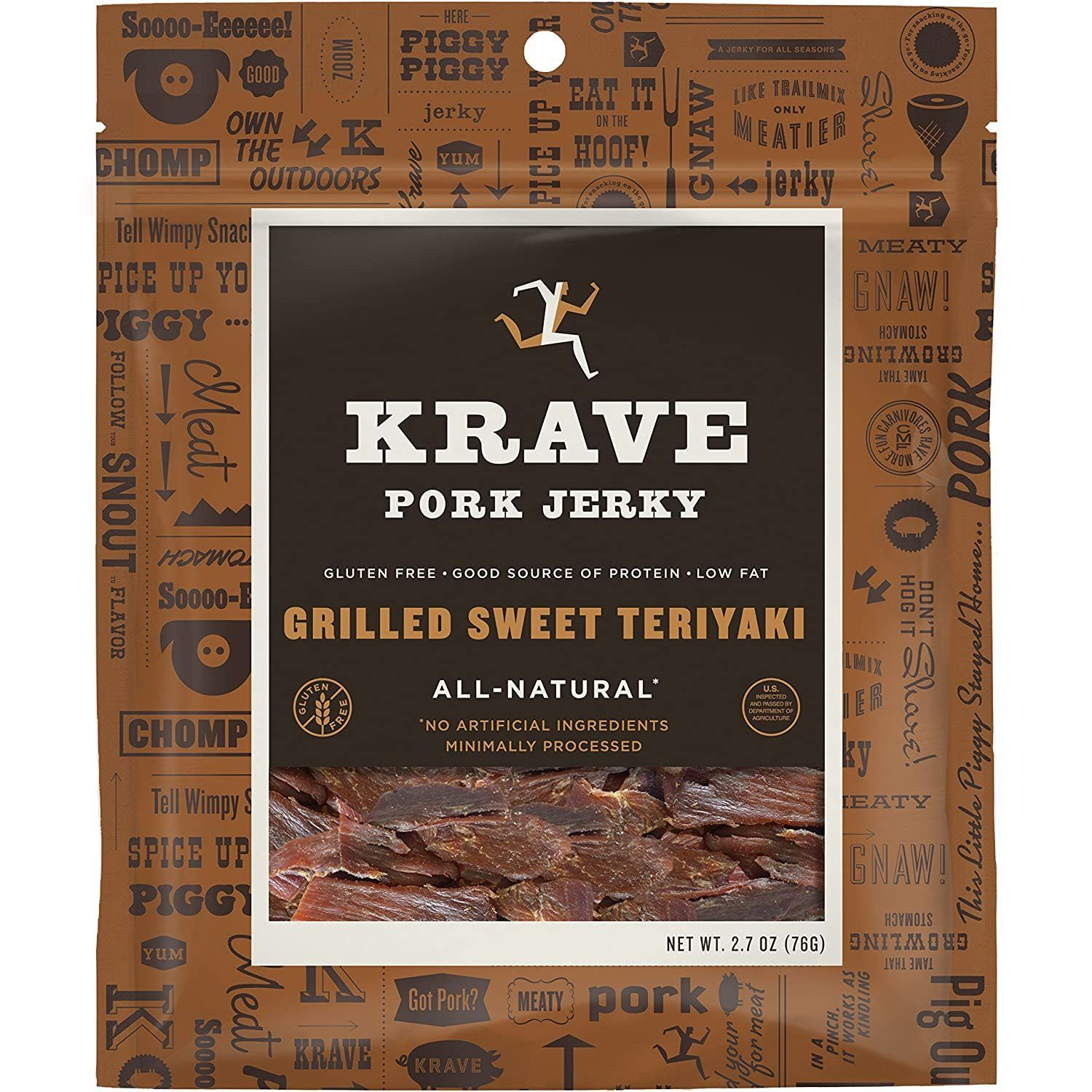 KRAVE Meat Cuts KRAVE Grilled Teriyaki Pork Cuts 2.7 Ounce