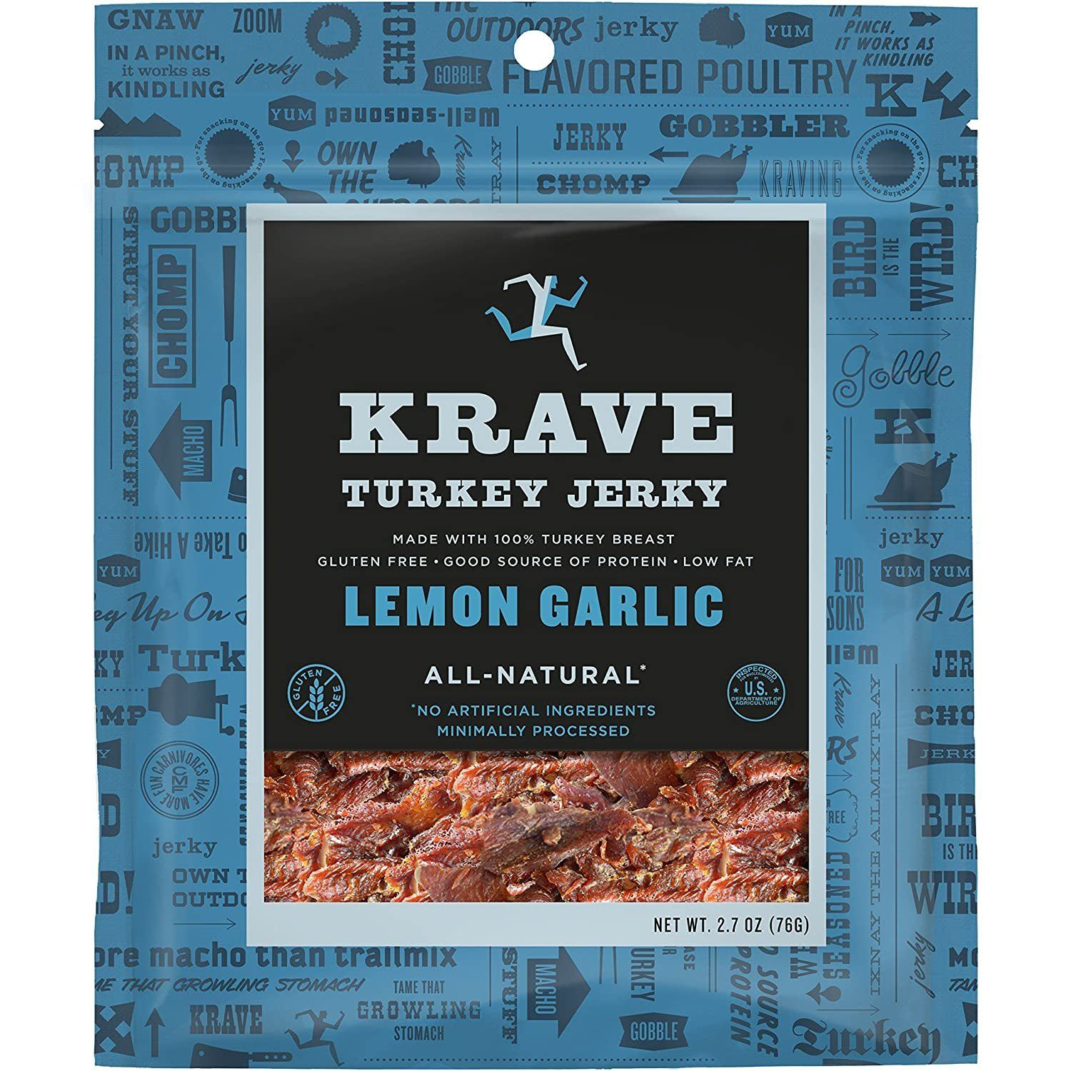 KRAVE Meat Cuts KRAVE Lemon Garlic Turkey Cuts 2.7 Ounce