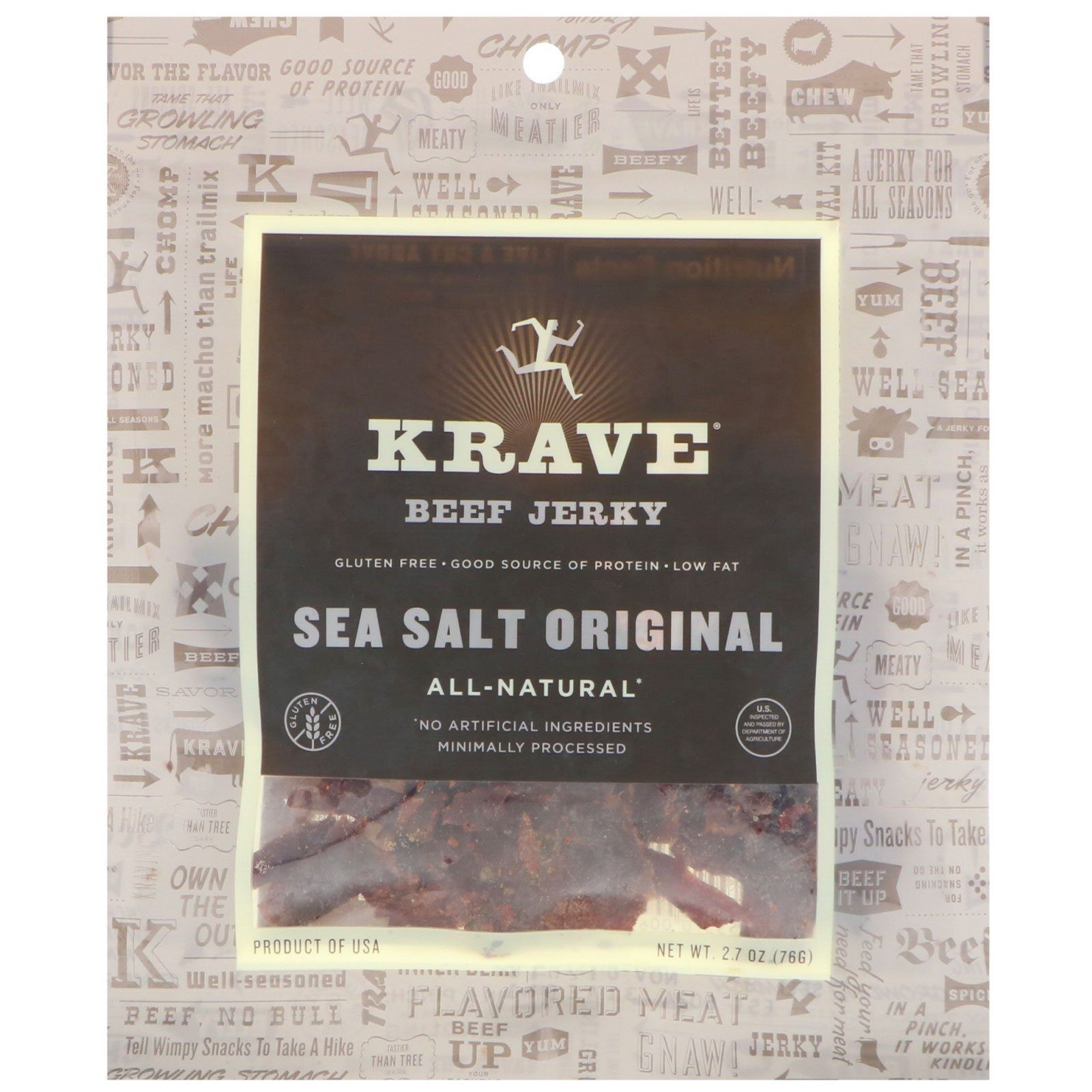 KRAVE Meat Cuts KRAVE Sea Salt Beef Cuts 2.7 Ounce
