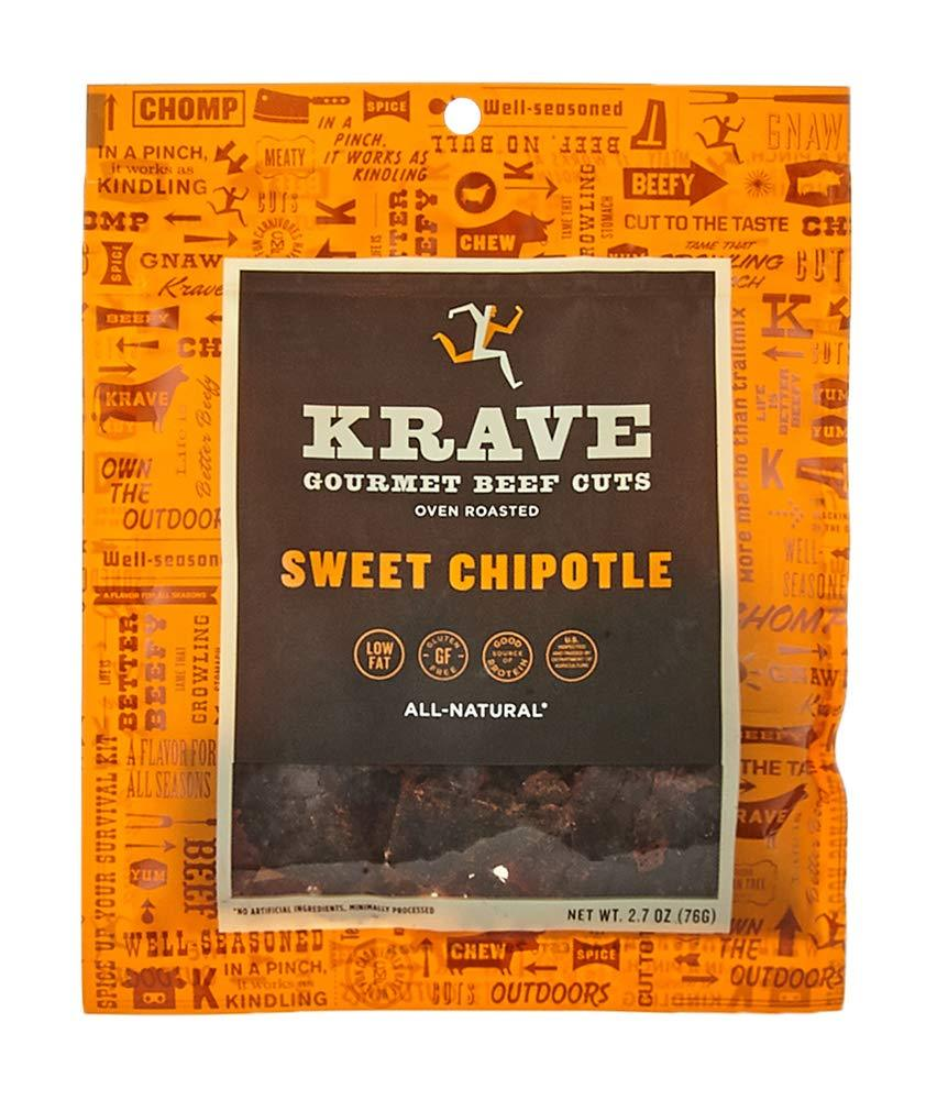 KRAVE Meat Cuts KRAVE Sweet Chipotle Beef Cuts 2.7 Ounce