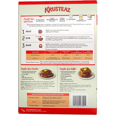 Krusteaz Pumpkin Spice Quick Bread Mix Krusteaz