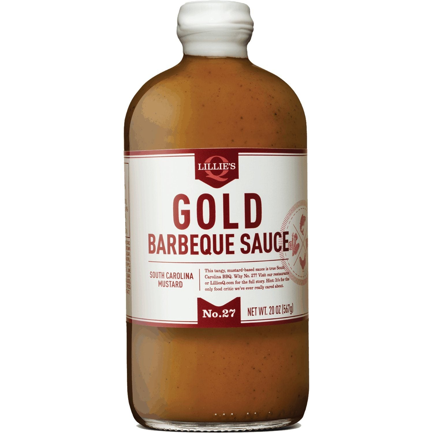 Lillie's Q Southern Barbeque Sauce Lillie's Q Gold South Carolina 20 Ounce
