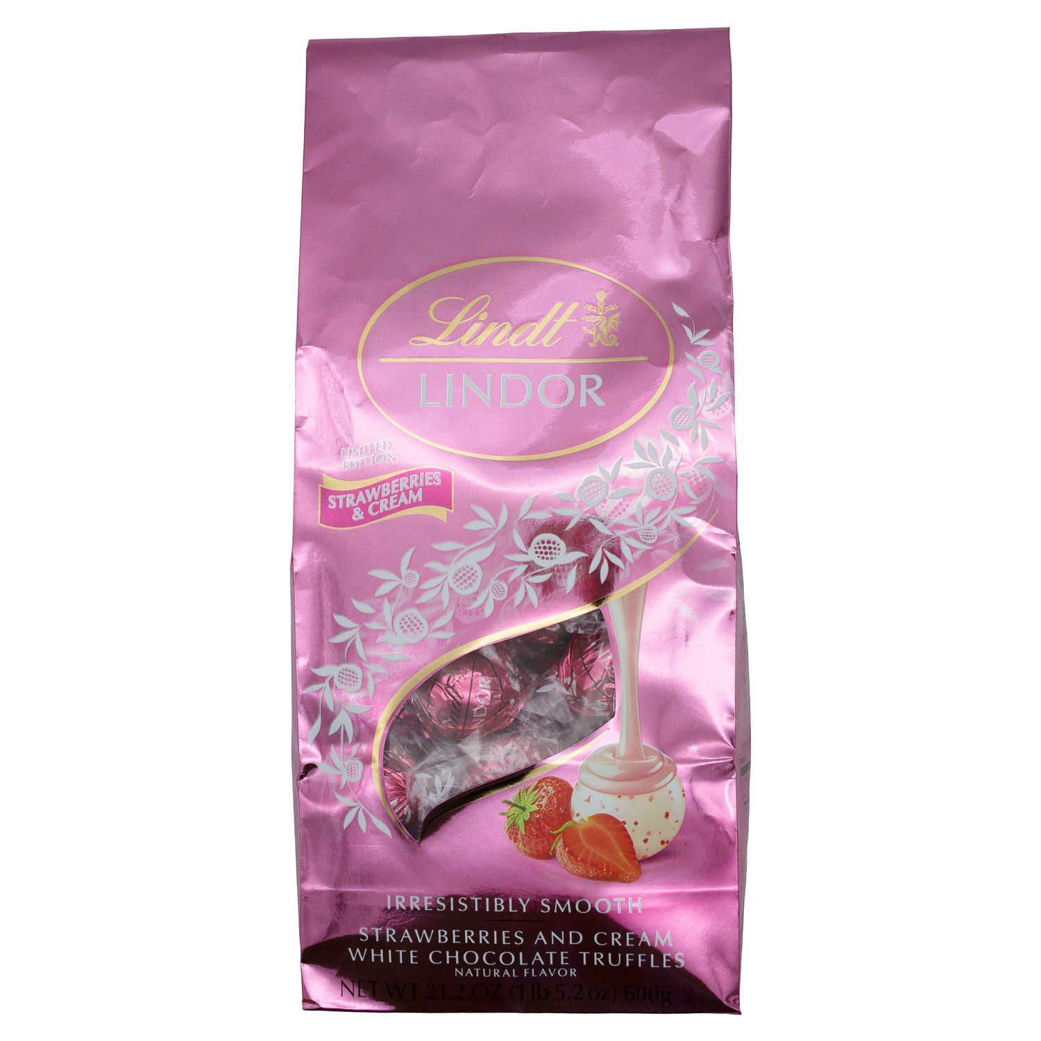 Lindt LINDOR Truffles Meltable Lindt Strawberries & Cream 21.2 Ounce