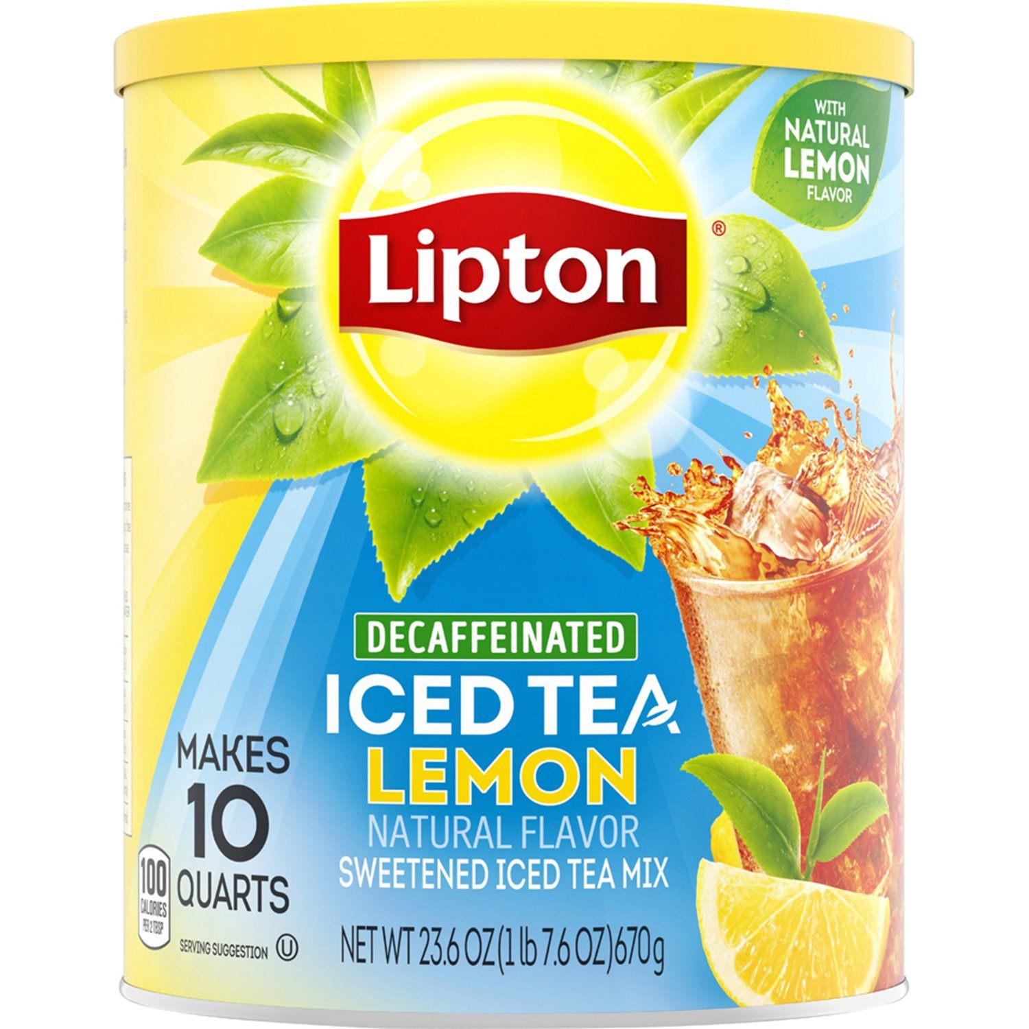 Lipton Iced Tea Mix Lipton Decaf Lemon 10 Quart - 23.6 Oz