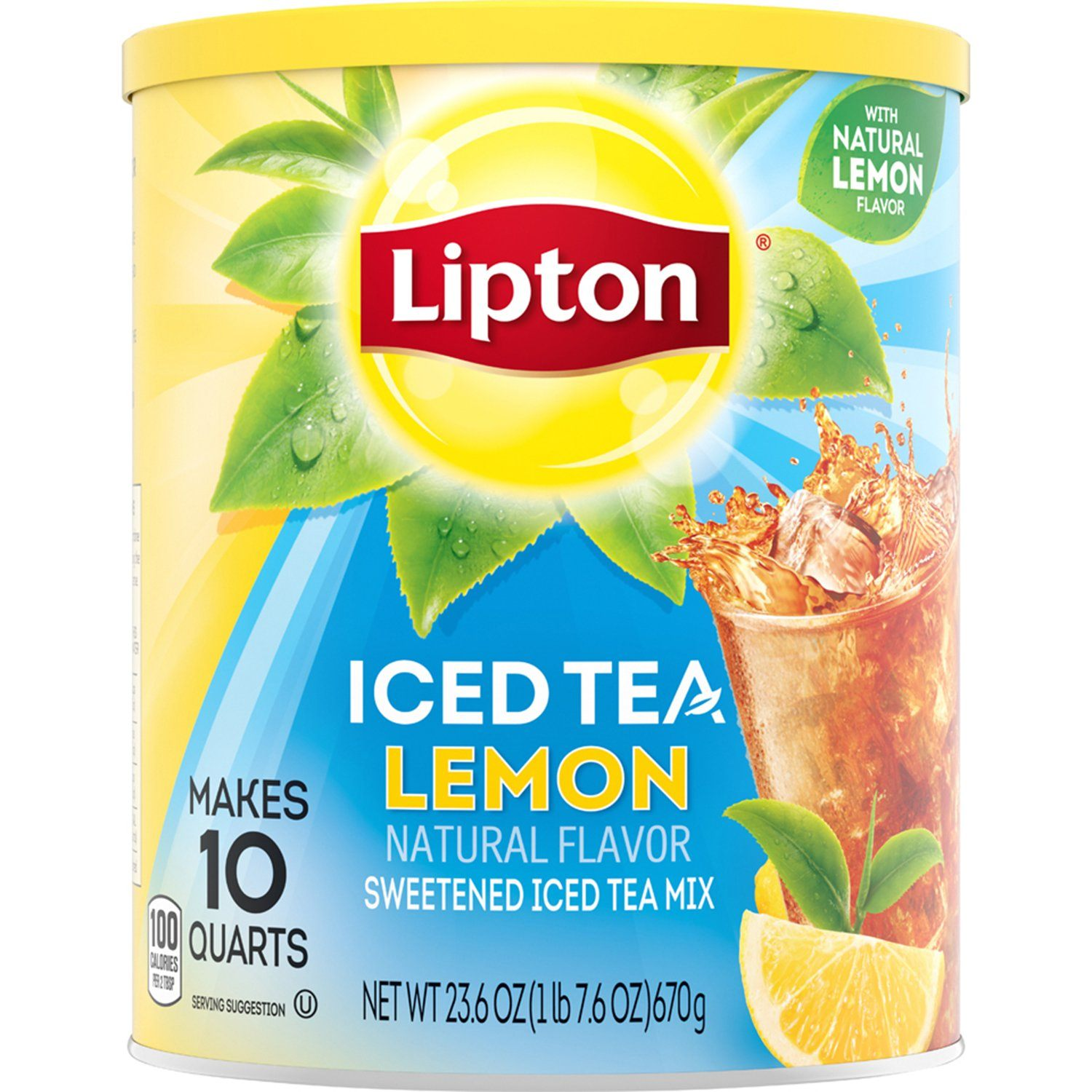Lipton Iced Tea Mix Lipton Lemon 10 Quart - 23.6 Oz