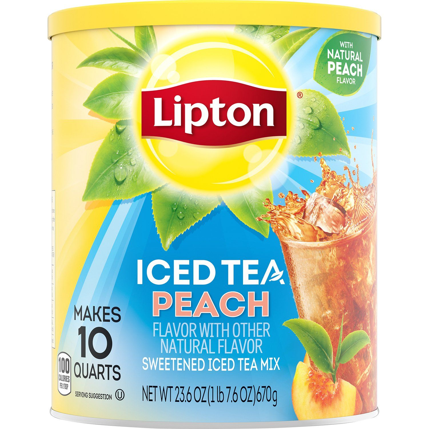 Lipton Iced Tea Mix Lipton Peach 23.6 Ounce