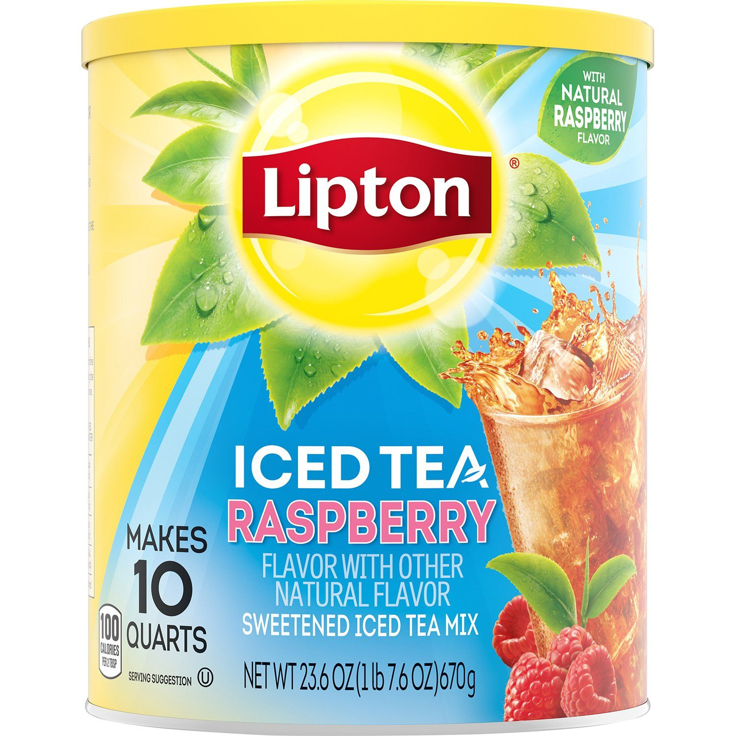 Lipton Iced Tea Mix Lipton Raspberry 23.6 Ounce