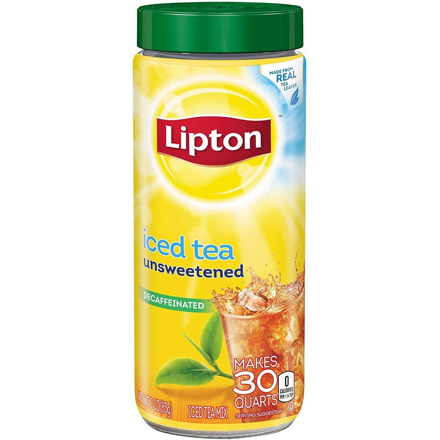 Lipton Iced Tea Mix Lipton Unsweetened Decaf 30 Quarts - 3 Ounce