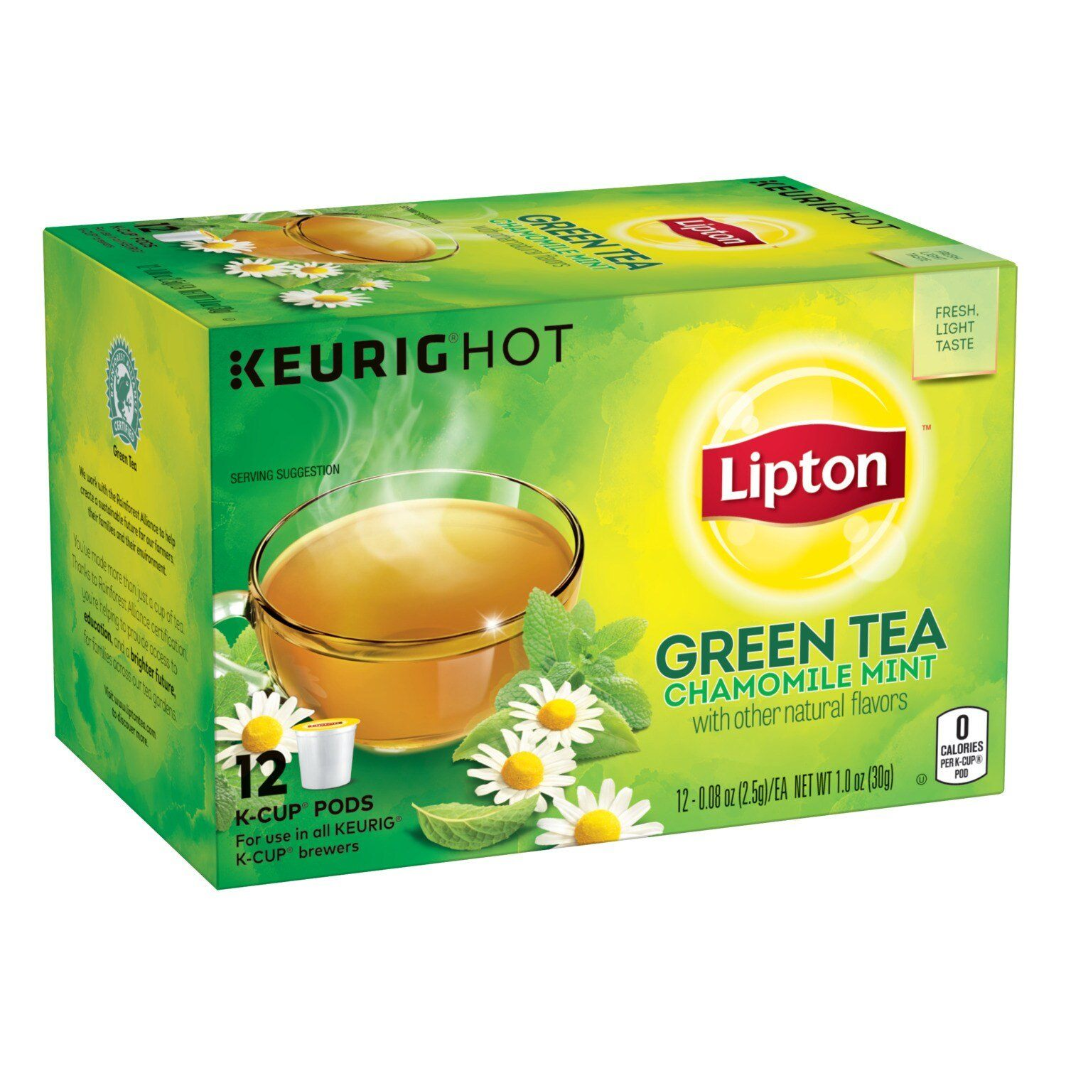 Lipton Tea K-Cups Lipton Green Tea Chamomile Mint 12 Count