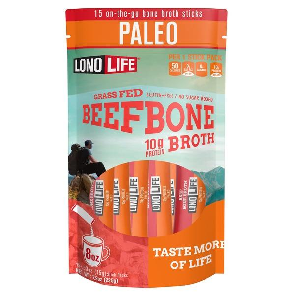 LonoLife Grass Fed Beef Bone Broth Powder LonoLife 0.53 Oz - 15 Count