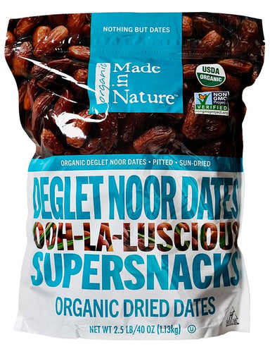 Made In Nature Organic Deglet Noor Dates Made In Nature 40 Ounce