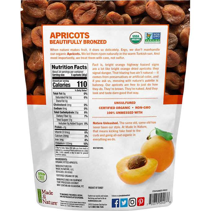 Made In Nature Organic Dried Apricots Made In Nature