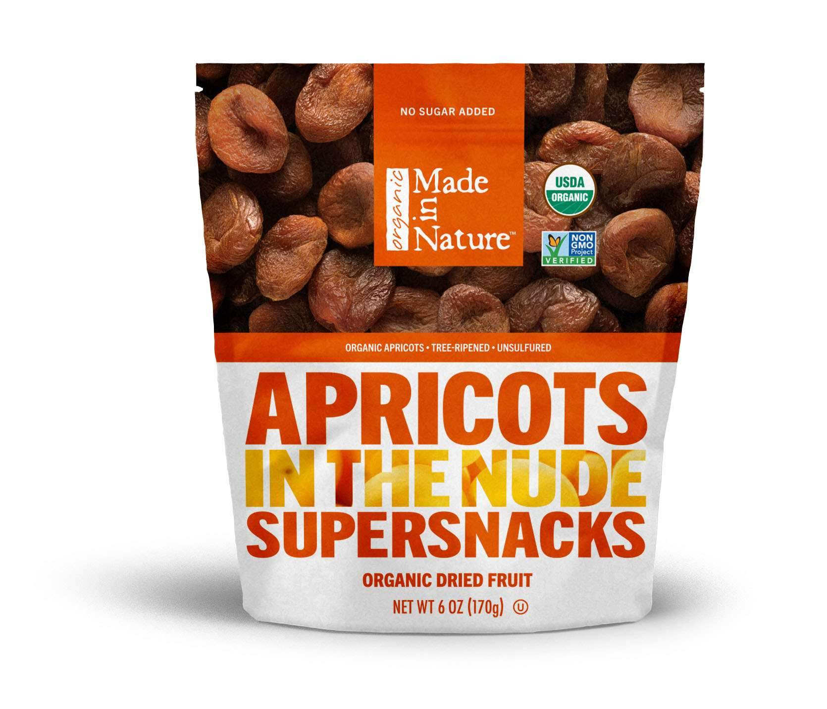 Made In Nature Organic Dried Apricots Made In Nature 6 Ounce