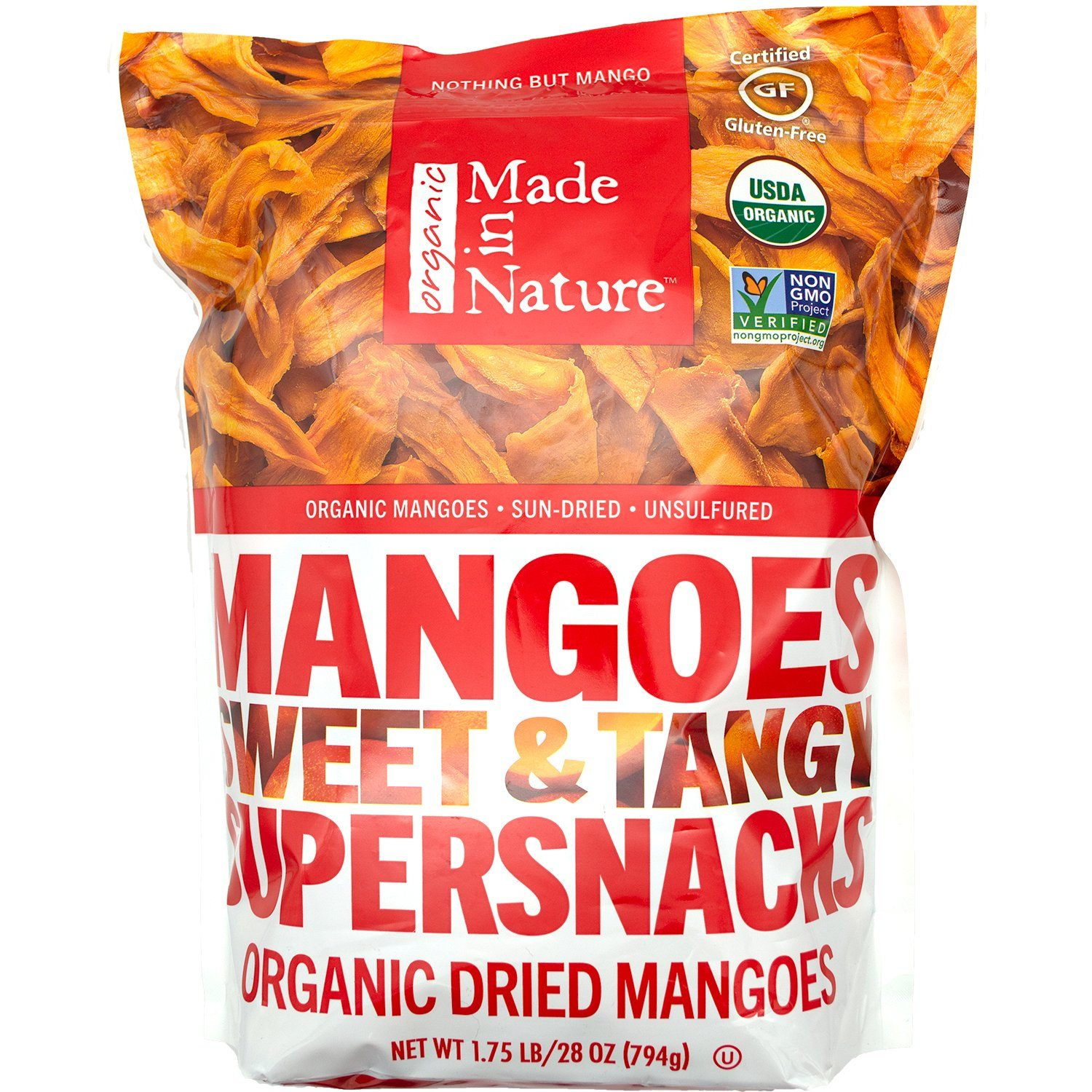 Made In Nature Organic Dried Mangoes Made In Nature 28 Ounce