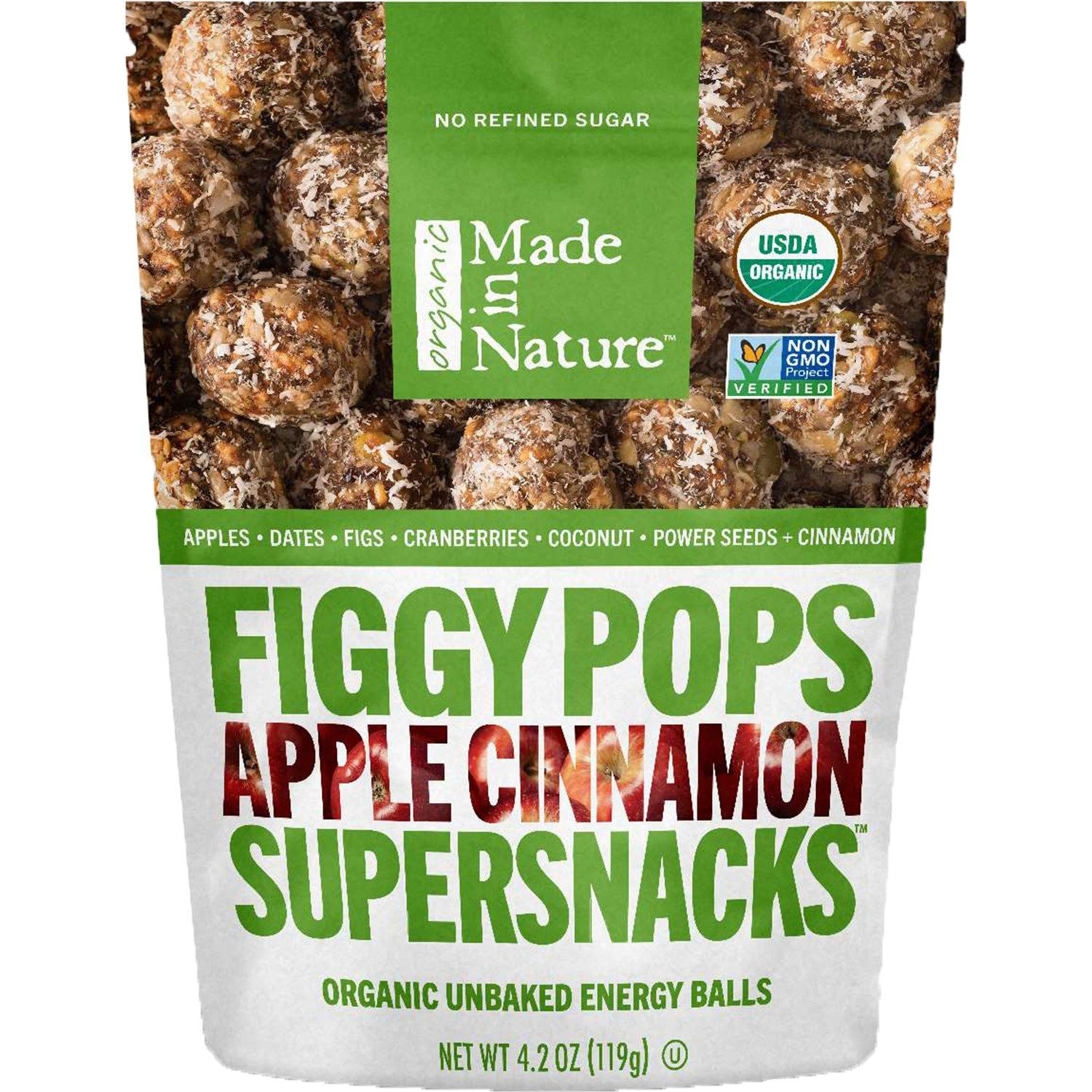 Made In Nature Organic Figgy Pops Made In Nature Apple Cinnamon 4.2 Ounce