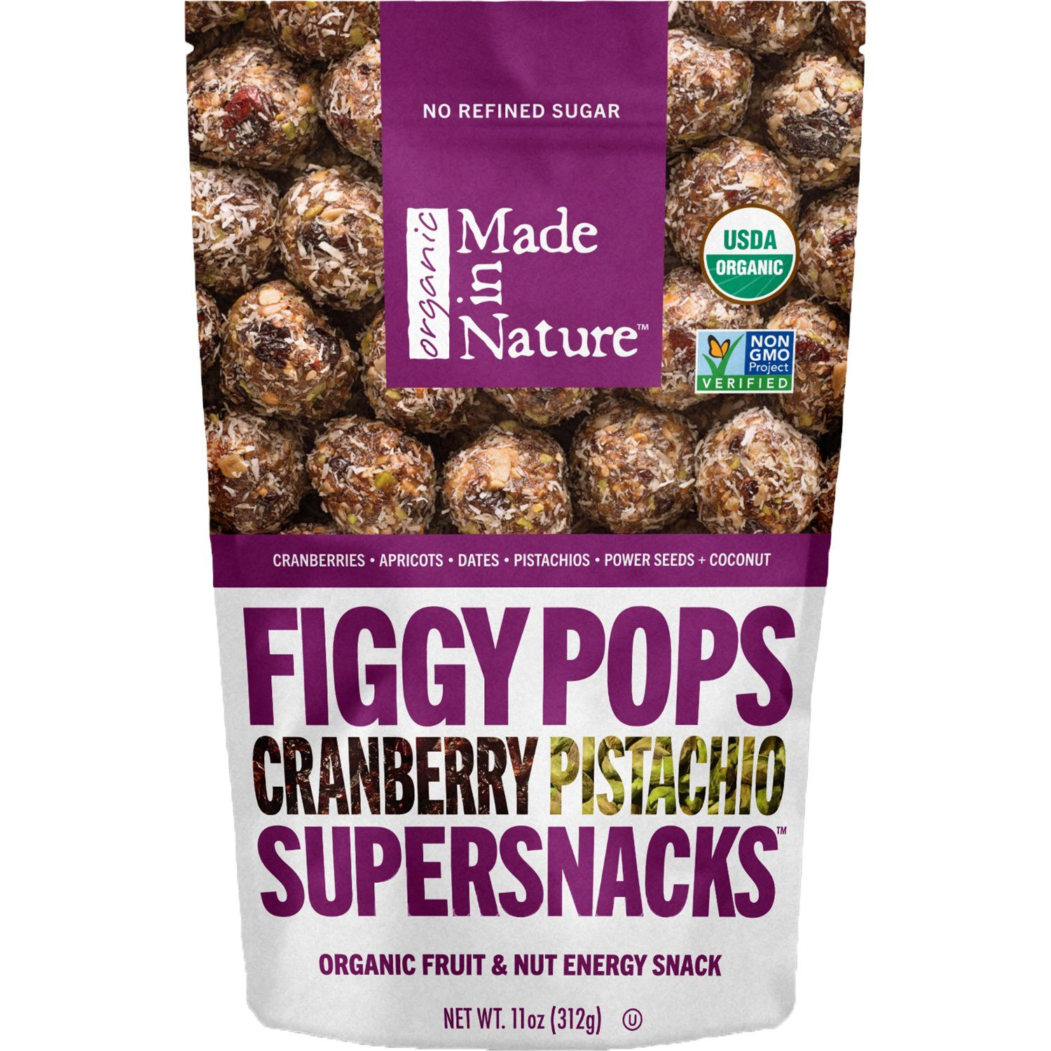 Made In Nature Organic Figgy Pops Made In Nature Cranberry Pistachio 11 Ounce