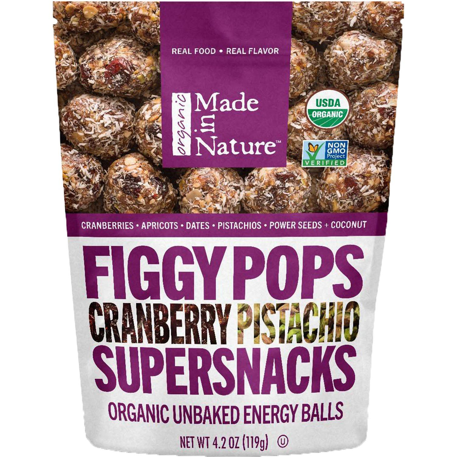 Made In Nature Organic Figgy Pops Made In Nature Cranberry Pistachio 4.2 Ounce