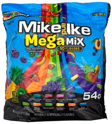 Mike & Ike Candy Snackathon Foods Mega Mix 54 Ounce