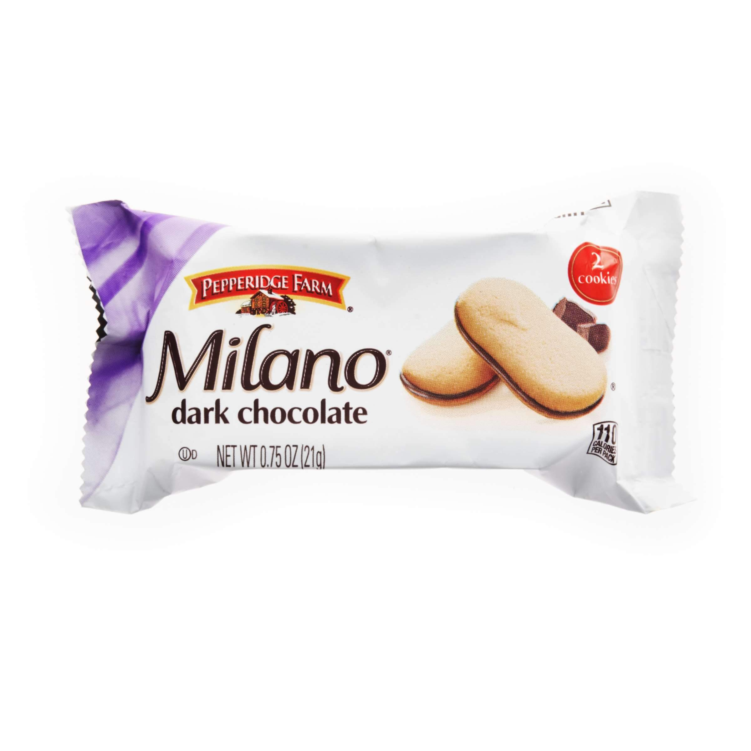 Milano Dark Chocolate Cookies Pepperidge Farms Dark Chocolate 2 Cookies-0.75 Oz