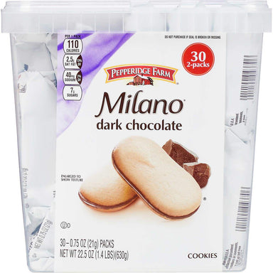 Milano Dark Chocolate Cookies Pepperidge Farms Dark Chocolate 2 Cookies-30 Count